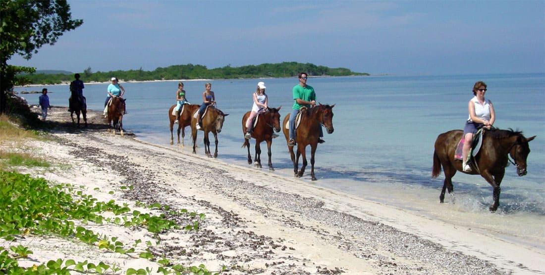 Falmouth Jamaica Beach Horseback Riding